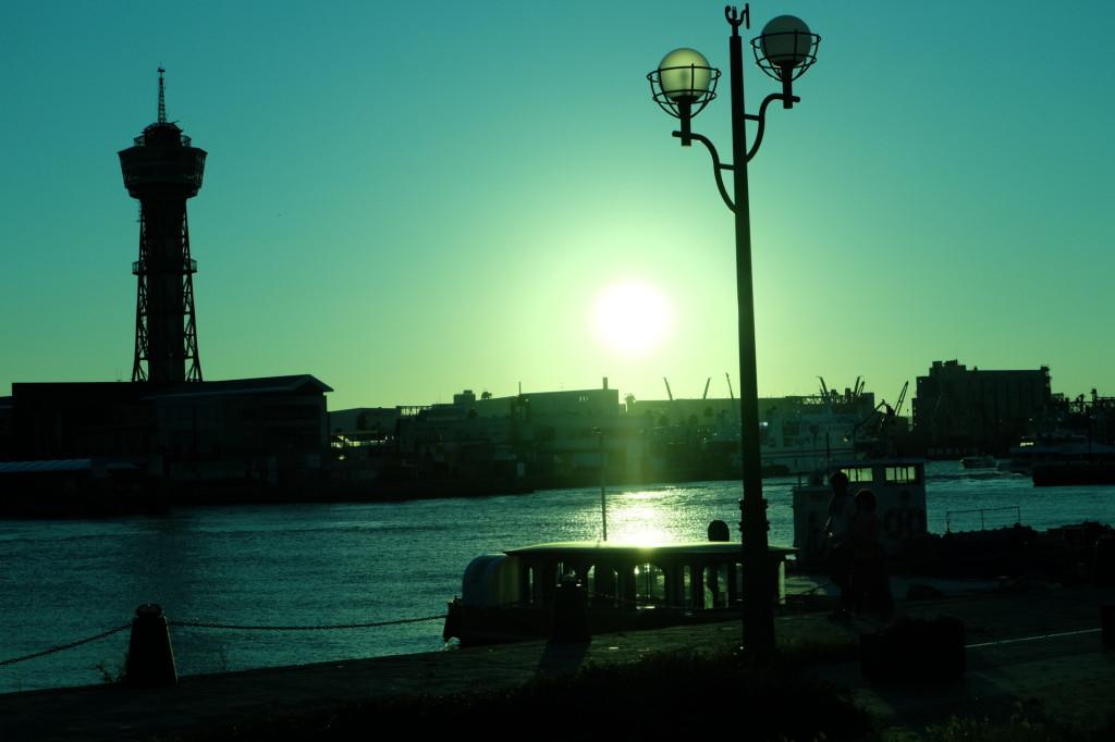 ベイサイドプレイス博多の夕日36