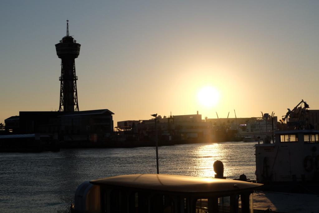ベイサイドプレイス博多の夕日35
