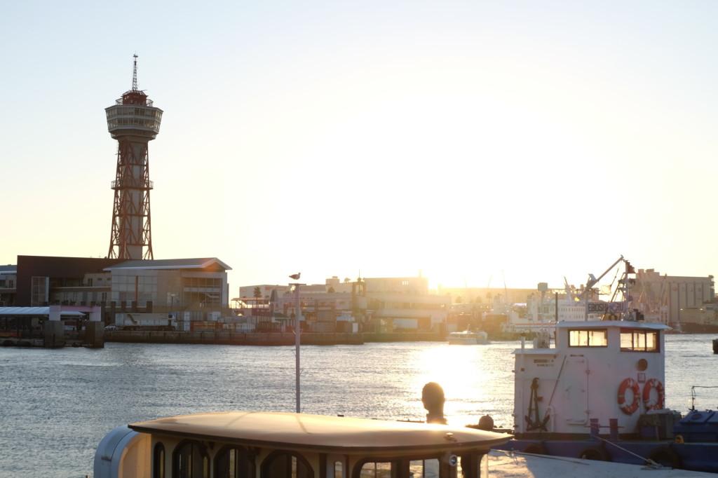 ベイサイドプレイス博多の夕日34