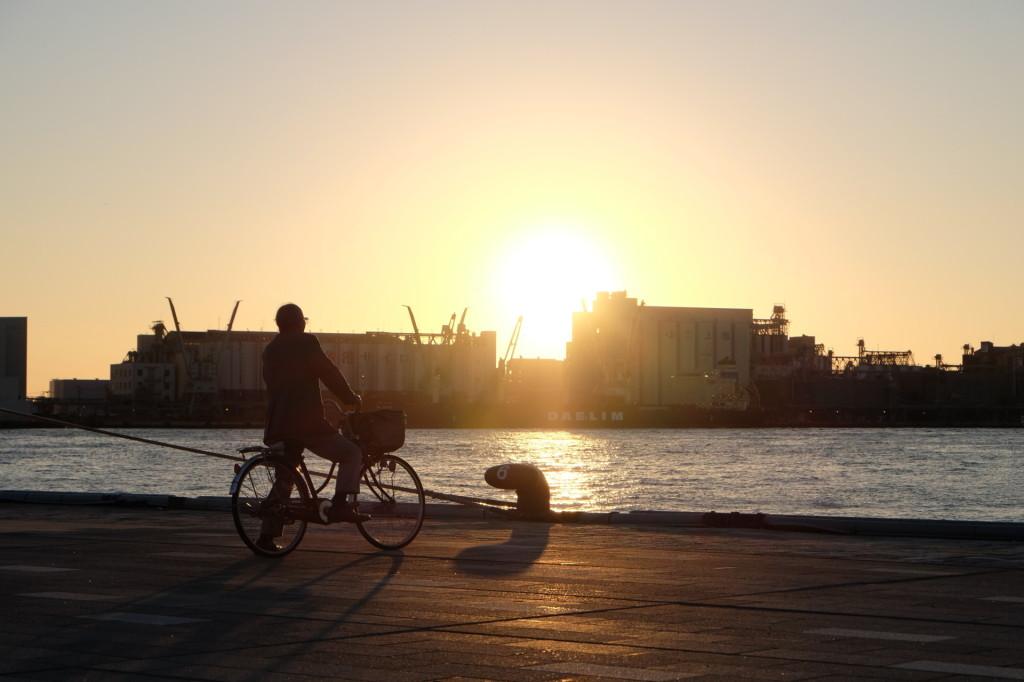 ベイサイドプレイス博多の夕日28