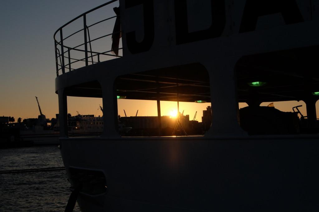 ベイサイドプレイス博多の夕日6
