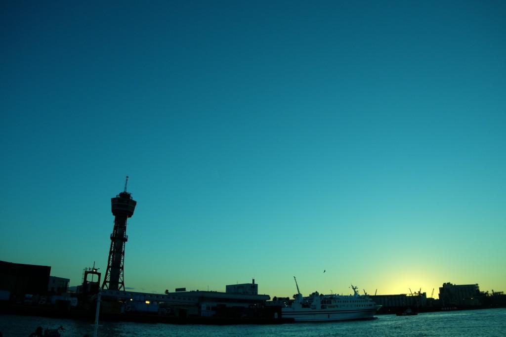 ベイサイドプレイス博多の夕日14