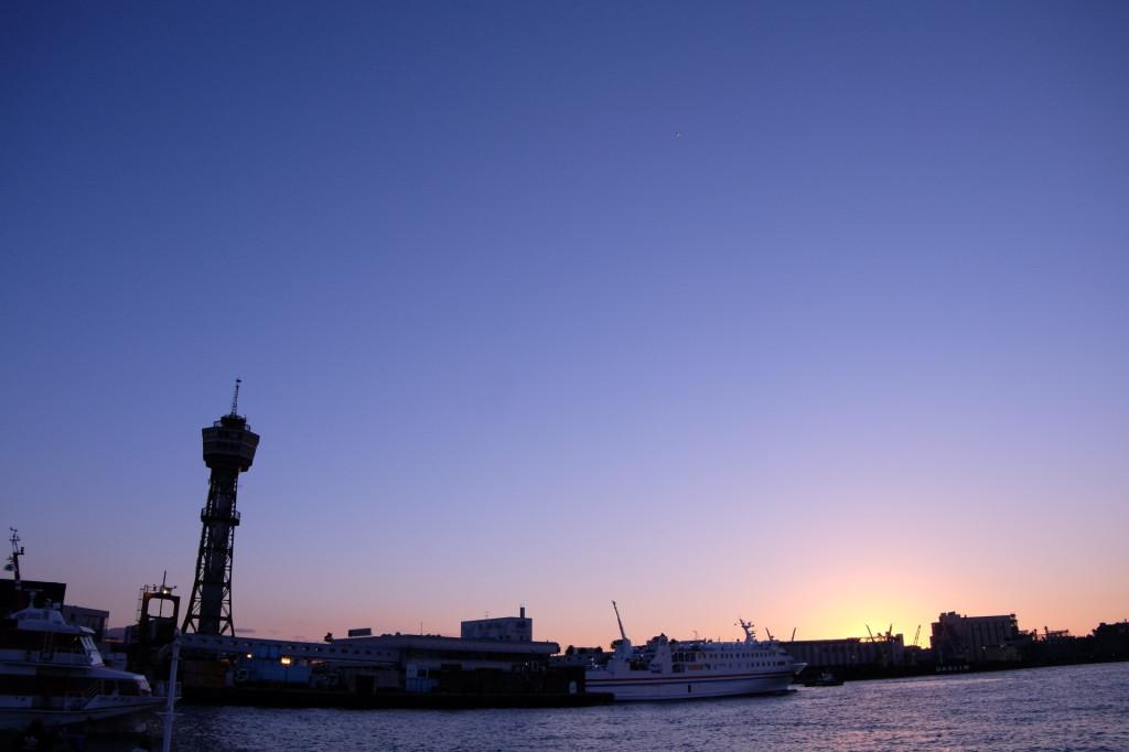 ベイサイドプレイス博多の夕日15