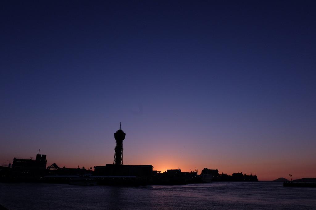 ベイサイドプレイス博多の夕日16