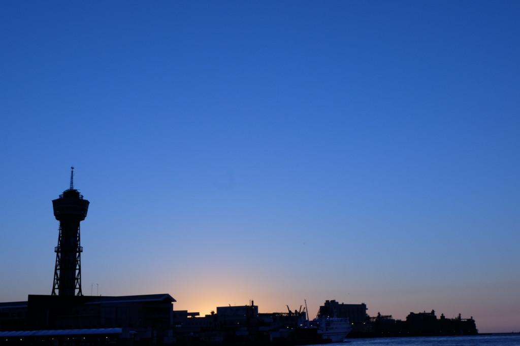 ベイサイドプレイス博多の夕日18
