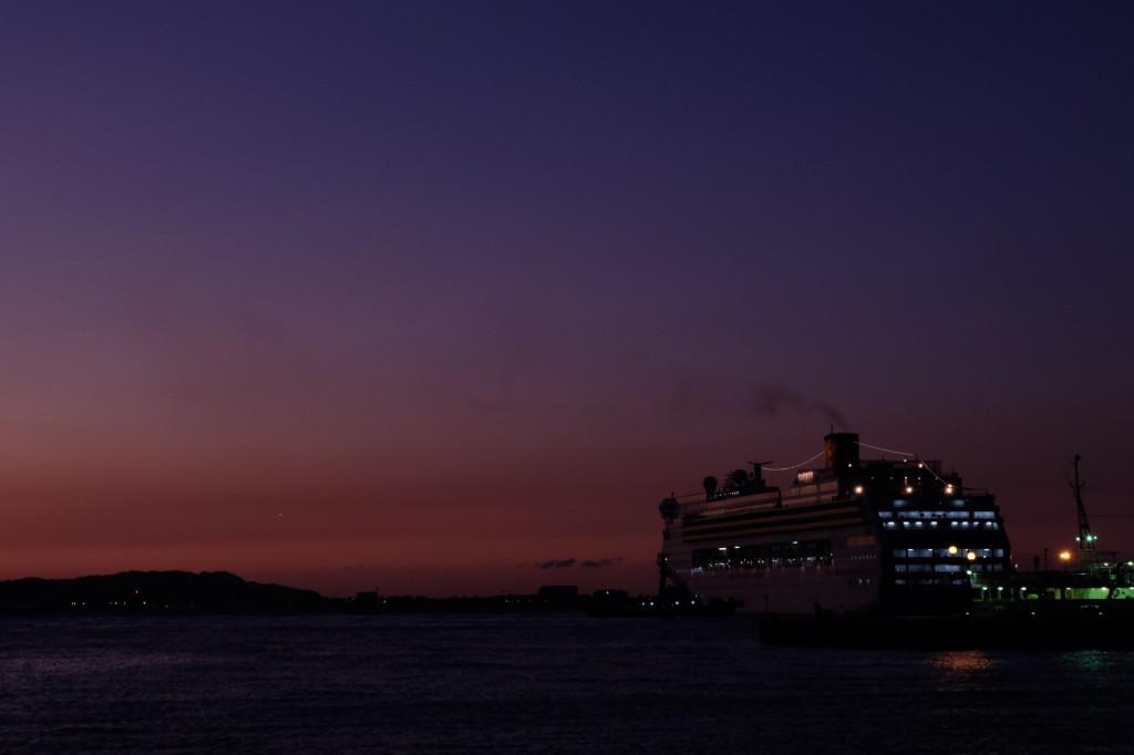 ベイサイドプレイス博多の夕日2