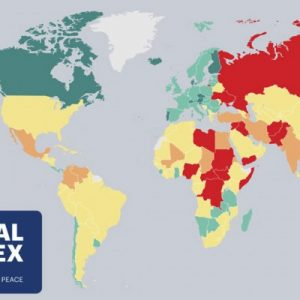 世界で最も危険な国ランキング2016(世界平和度指数GPIで算出)