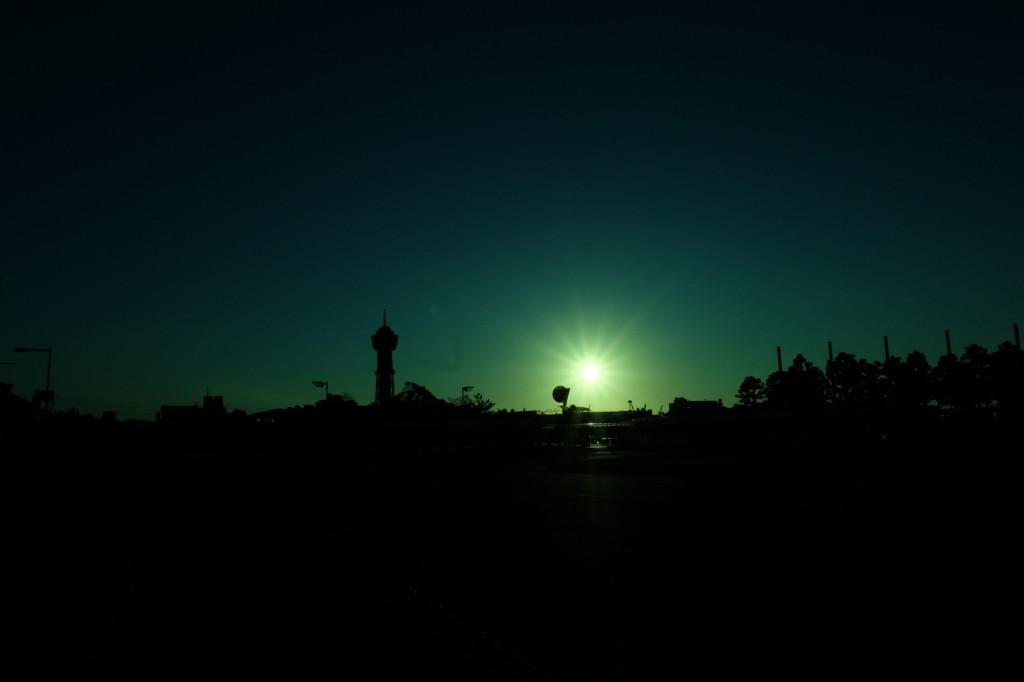 ベイサイドプレイス博多の夕日23