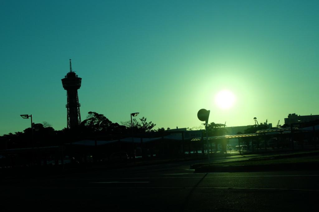ベイサイドプレイス博多の夕日37