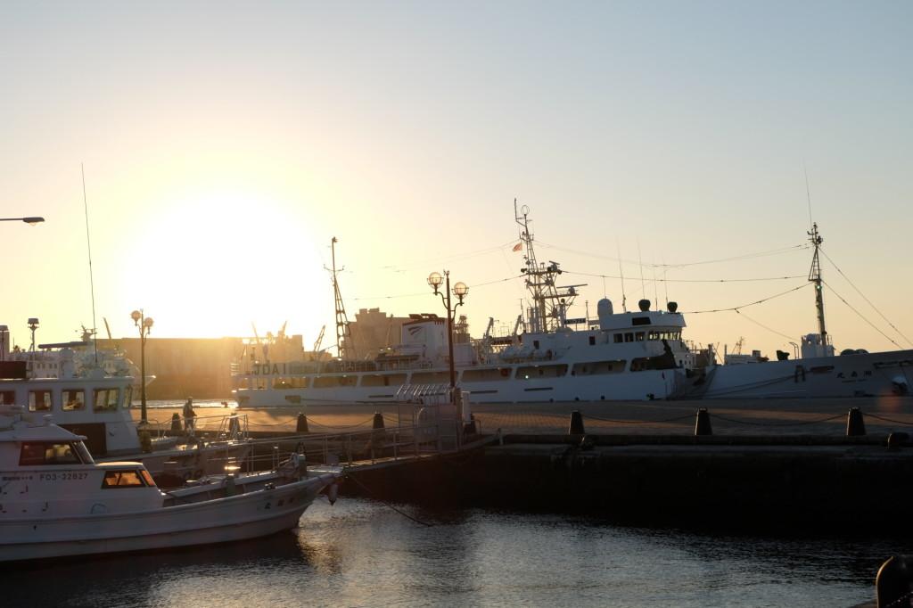 ベイサイドプレイス博多の夕日33