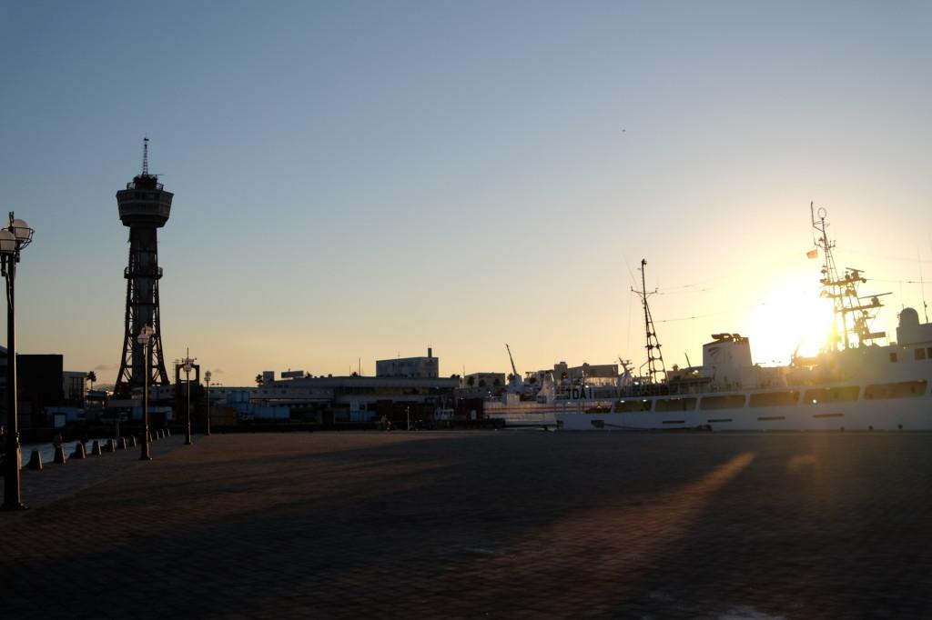 ベイサイドプレイス博多の夕日30