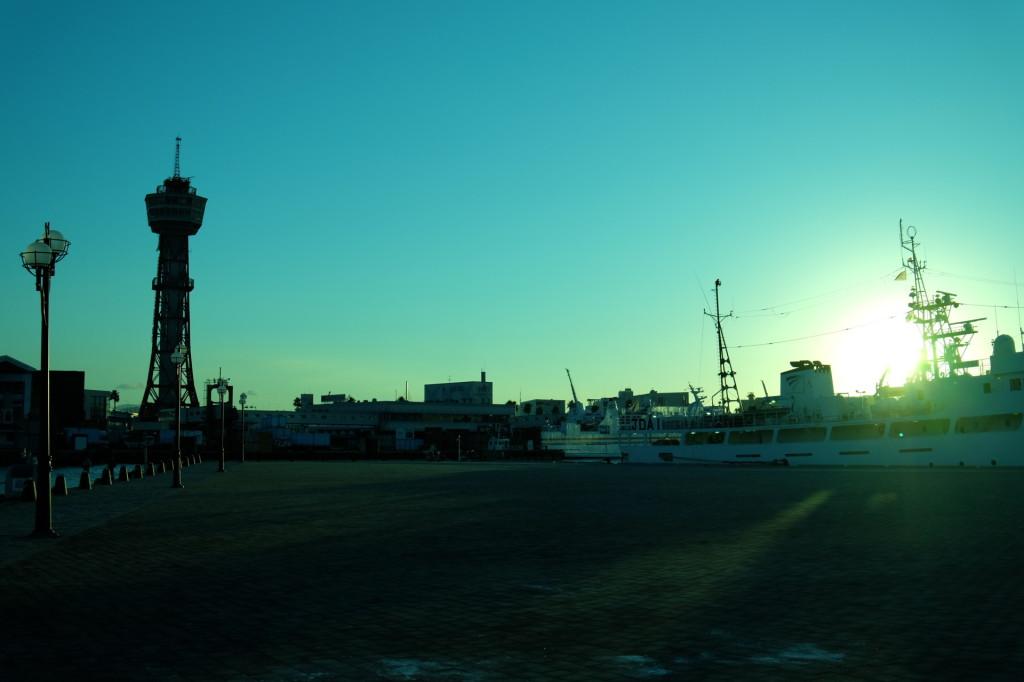ベイサイドプレイス博多の夕日29