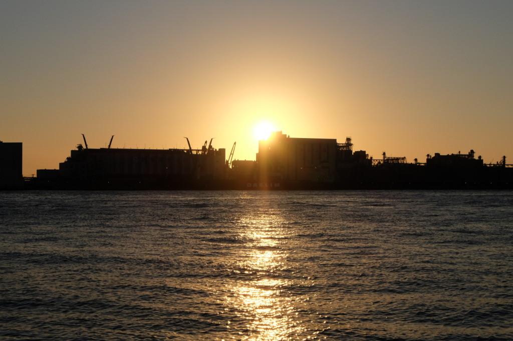 ベイサイドプレイス博多の夕日25