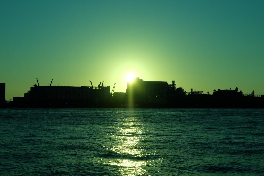 ベイサイドプレイス博多の夕日26