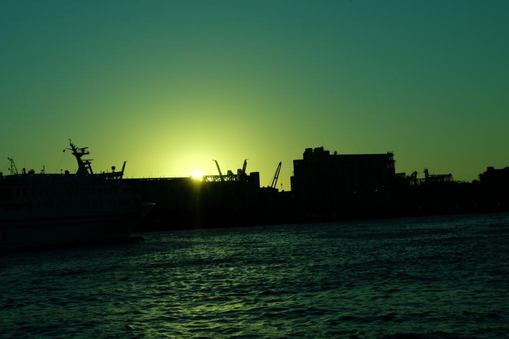 ベイサイドプレイス博多の夕日8