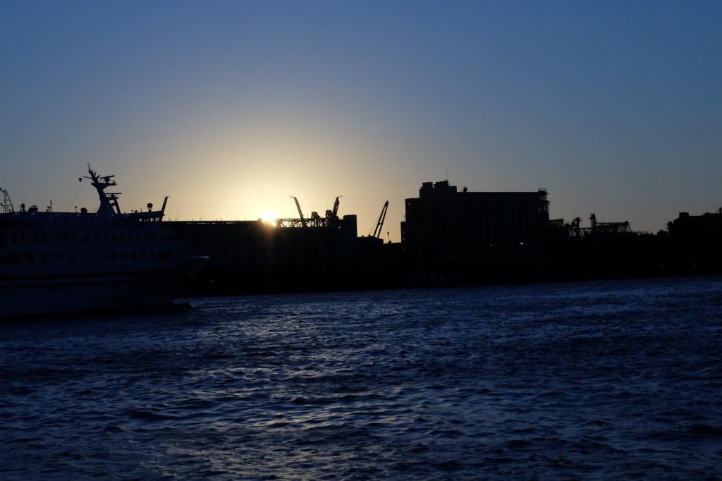 ベイサイドプレイス博多の夕日9