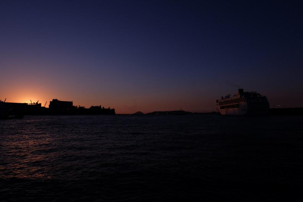 ベイサイドプレイス博多の夕日11