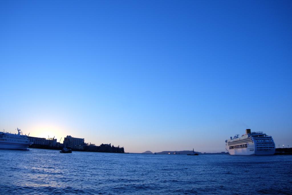 ベイサイドプレイス博多の夕日12