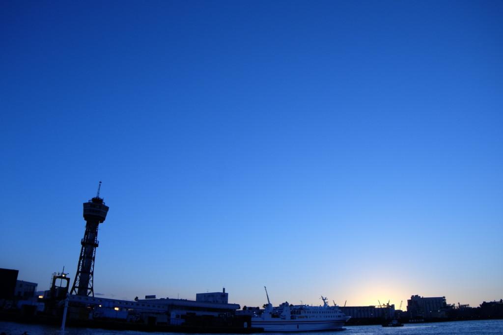 ベイサイドプレイス博多の夕日13