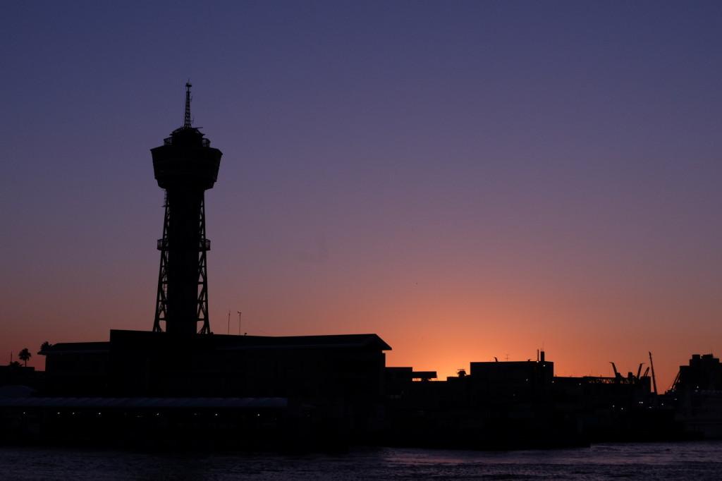 ベイサイドプレイス博多の夕日17