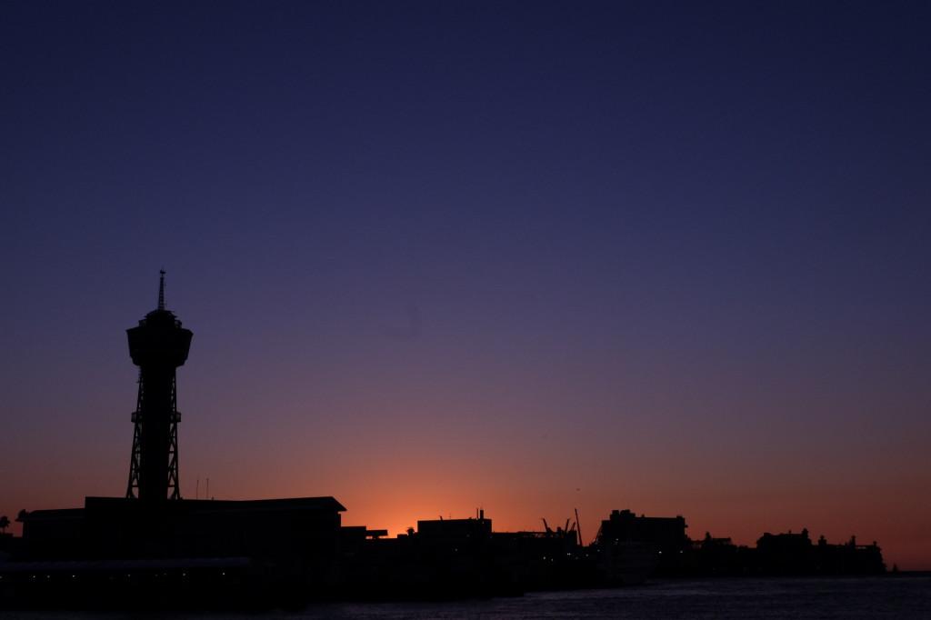 ベイサイドプレイス博多の夕日19