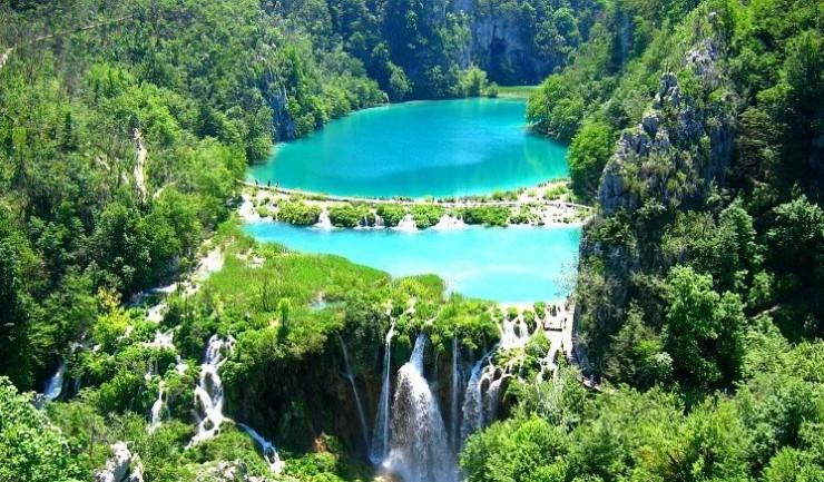 クロアチア Plitvice Falls プリトビチェの滝