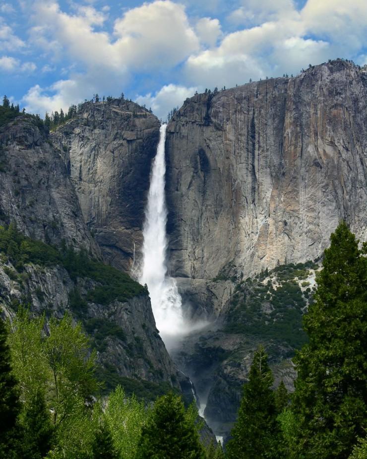 アメリカ Yosemite Falls ヨセミテ滝