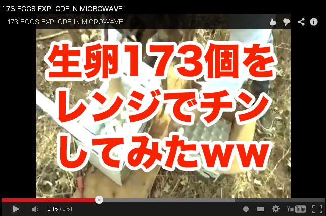 【動画】173個の生卵を電子レンジでチンすると・・・