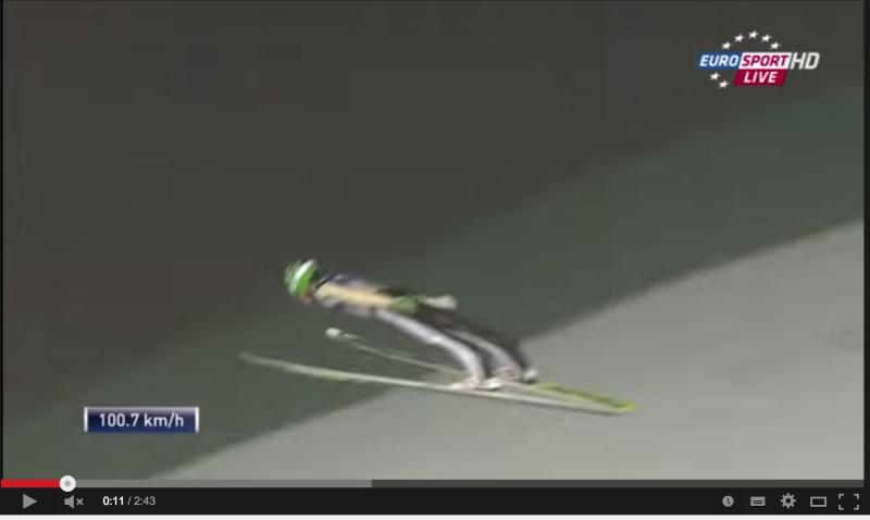 【動画】スキージャンプ250mで世界記録更新!これは完全に飛んでる。