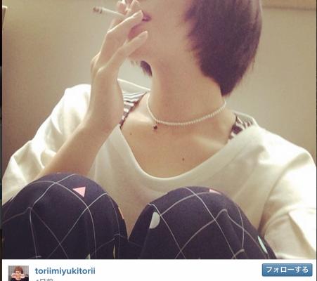 instagramに投稿された鳥居みゆきの喫煙姿に絶賛の嵐!
