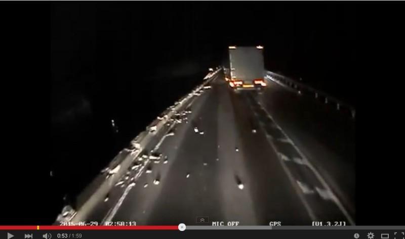 【ドラレコ】箱根トレーラー転落事故の数秒前の動画が公開される。PTMG流出