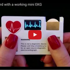 【名刺で測定】ハンガリーの心電図メーカーmobilECGの名刺が面白い!