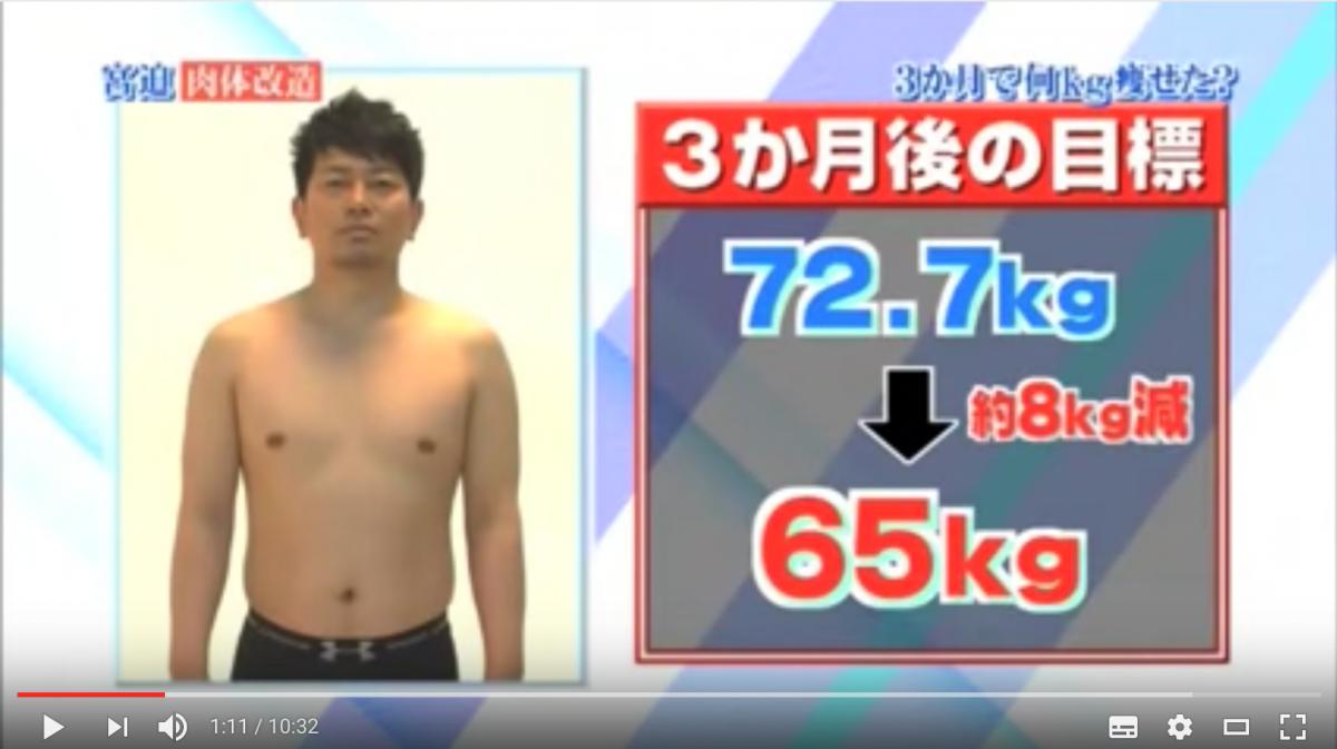 宮迫博之がダイエットに成功した方法とは!3ヶ月で10キロ減