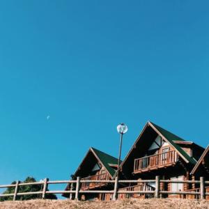 大池公園ふれあいの里ログハウスに男5人で宿泊。景色も設備もバーベキューも最高!