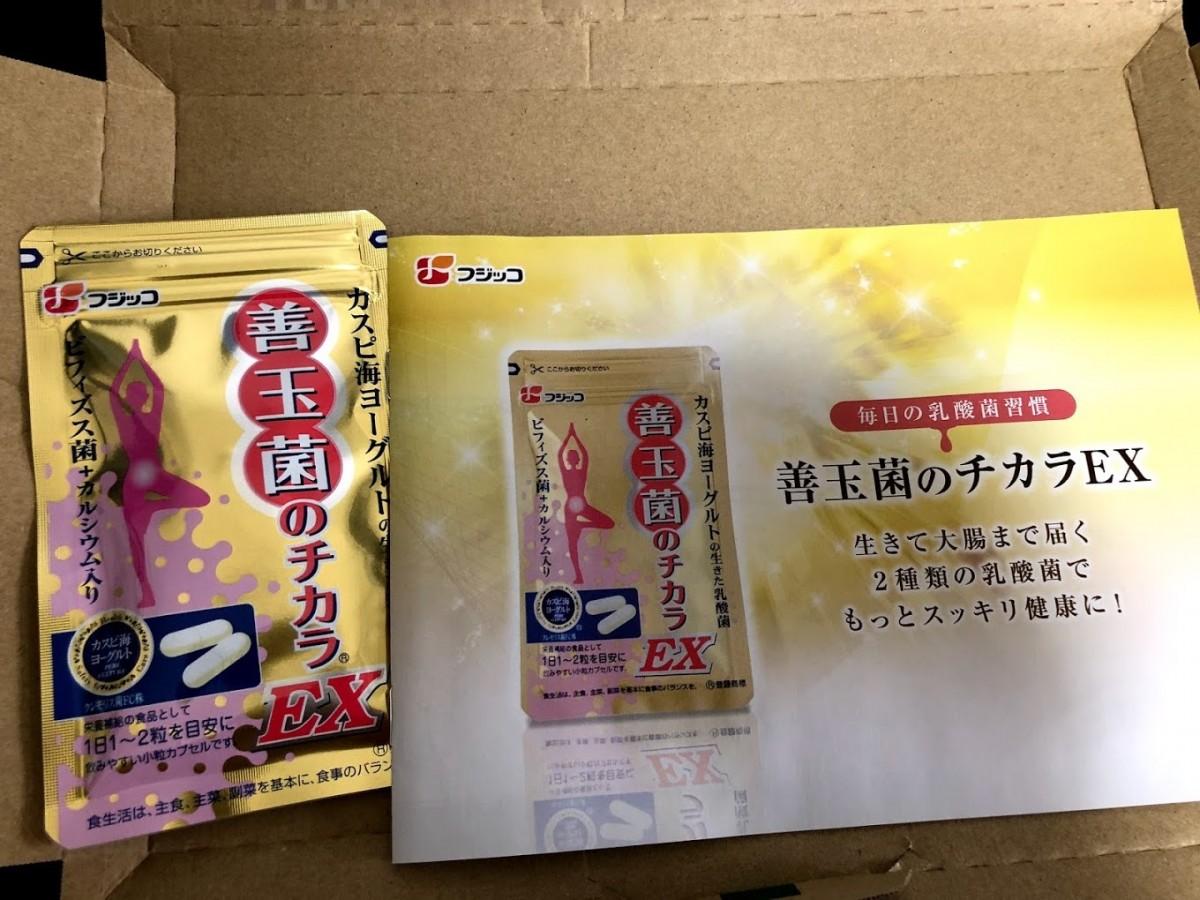 善玉菌のチカラEXを購入。開封してみた。同封物や商品レビュー